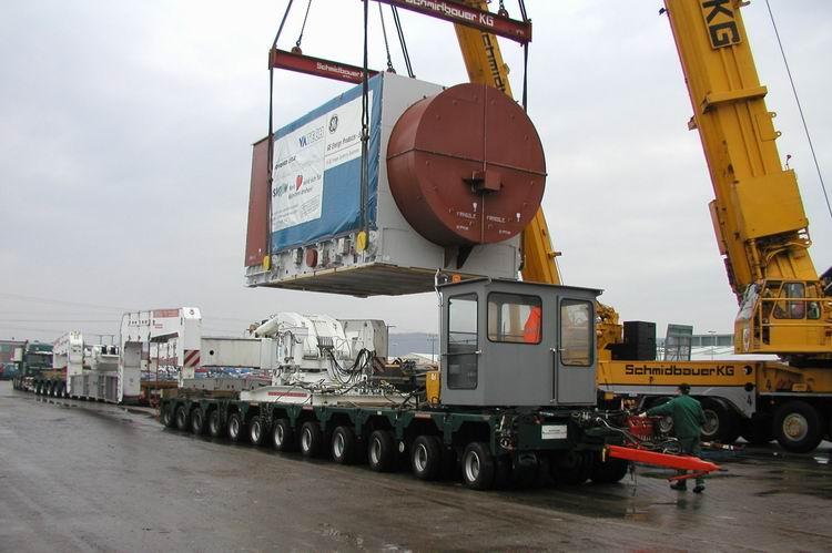 Scheuerle - 300 Tonnen Kesselbrücke