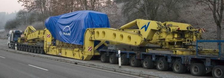 Goldhofer - 300 Tonnen Kesselbrücke