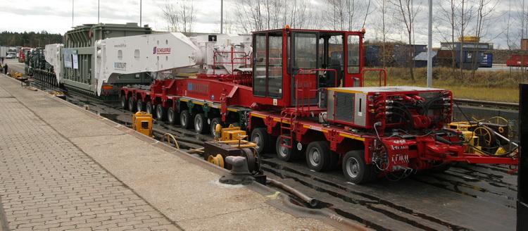 Scheuerle - 620 Tonnen Kesselbrücke