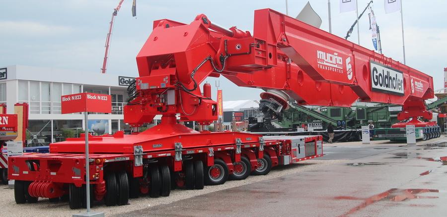 Goldhofer - 500 Tonnen Kesselbrücke